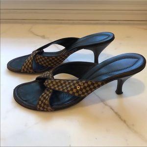 Authentic Louis Vuitton low heel Sandals